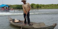 Villager on Tonle Sap Lake