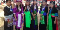 Young people during Hmong New Year Festival in Laos